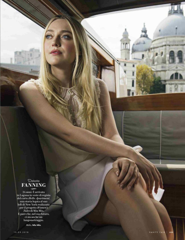 Dakota Fanning in Vanity Fair Magazine (Italy September)