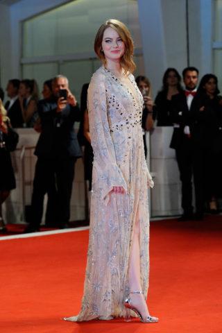 Emma Stone at The Favourite Premiere at Venice Film Festival