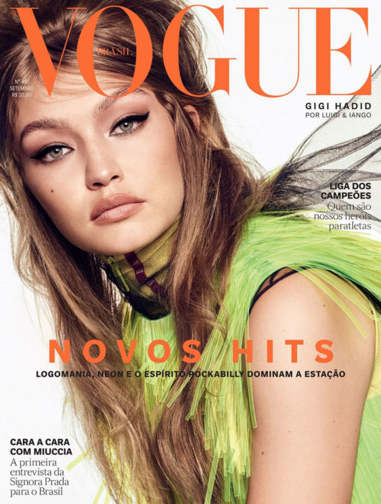 Gigi Hadid in Vogue Magazine (Brazil September 2018)