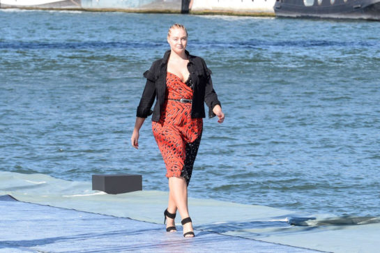 Iskra Lawrence at L'Oreal Fashion Show Rehearsal in Paris