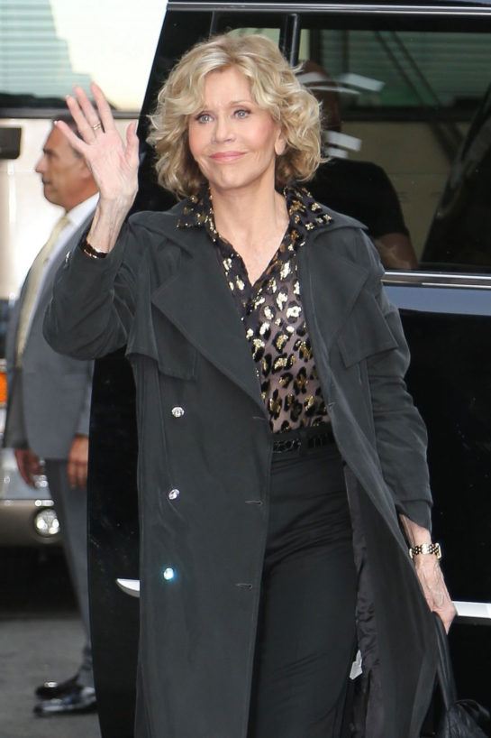 Jane Fonda at Late Show with Stephen Colbert in New York
