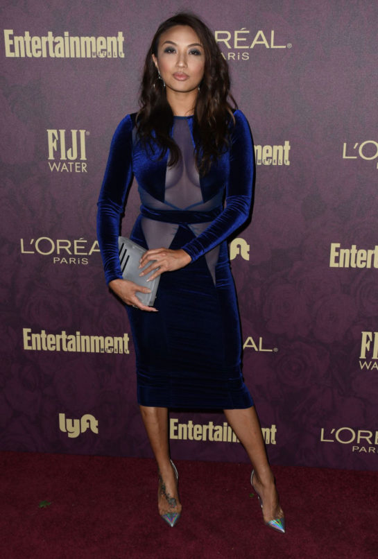 Jeannie Mai at EW and L'Oreal Paris Pre-Emmy Party in Hollywood