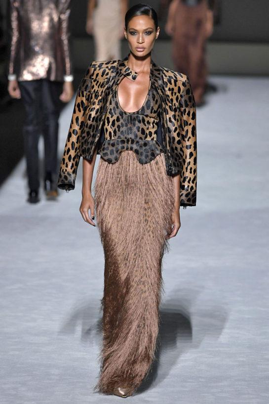 Joan Smalls at Tom Ford Runway Show at New York Fashion Week