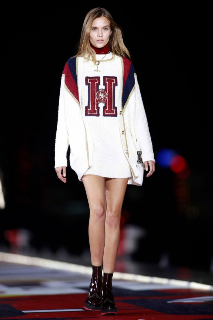 Josephine Skriver at Tommy Hilfiger Show at New York Fashion Show