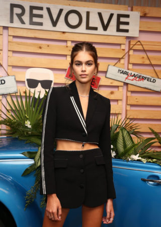 Kaia Gerber at Karl Lagerfeld x Revolve Launch in LA