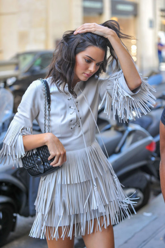 Kendall Jenner Arrives at Four Seasons George V Hotel in Paris