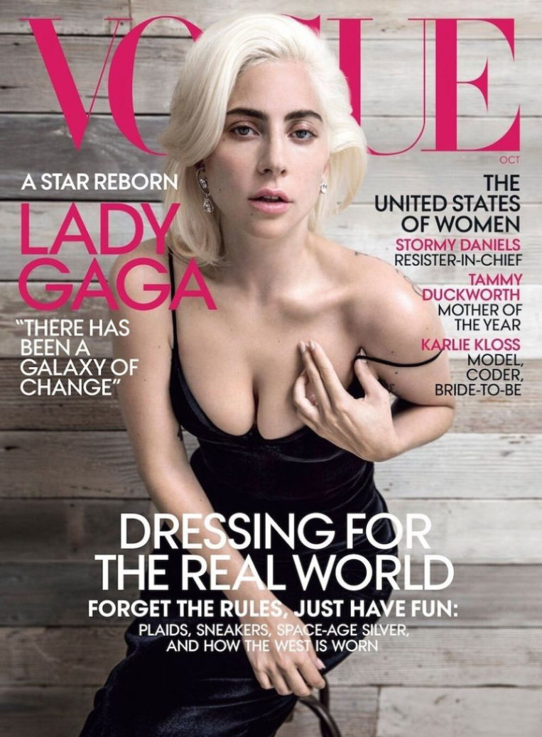 Lady Gaga in Vogue Magazine, (October 2018)
