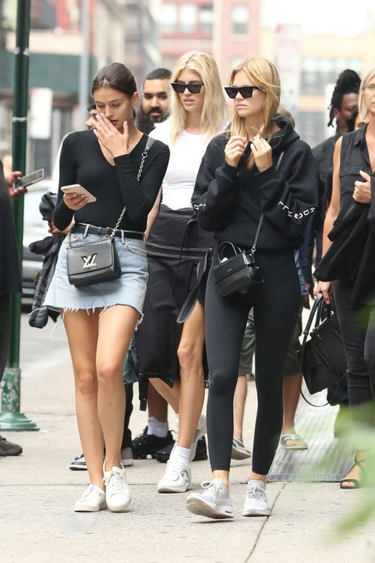 Nadine Leopold Out in New York