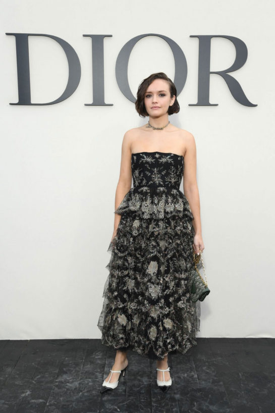 Olivia Cooke at Christian Dior Show at Paris Fashion Week