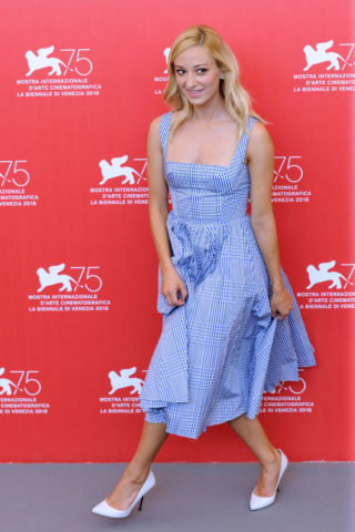 Olivia Hamilton at First Man Premiere at Venice Film Festival