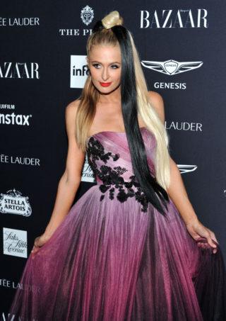 Paris Hilton at Harper's Bazaar ICONS Fashion Week event in New York