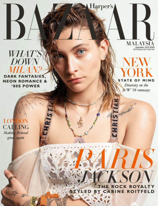 Paris Jackson in Harper's Bazaar Magazine (Malaysia September 2018)