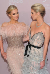 Paris and Nicky Hilton at Rihanna's 2018 Diamond Ball in New York