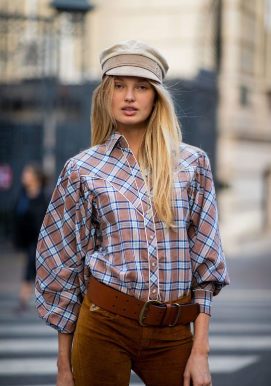 Romee Strijd Out at Paris Fashion Week