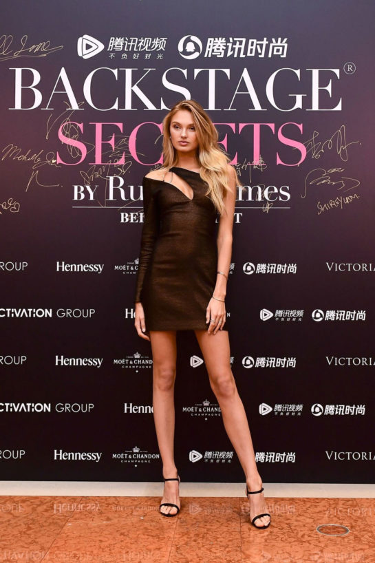 Romee Strijd at Backstage Secrets By Russell James Beijing Exhibit Opening