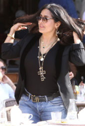 Salma Hayek at San Marco Square in Venice