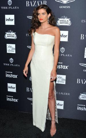 Sara Sampaio at Harper's Bazaar ICONS Fashion Week event in New York
