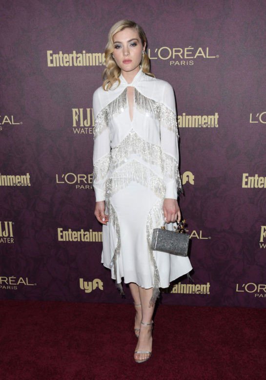 Skyler Samuels at EW and L'Oreal Paris Pre-Emmy Party in Hollywood