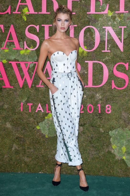 Stella Maxwell at Green Carpet Fashion Awards in Milan