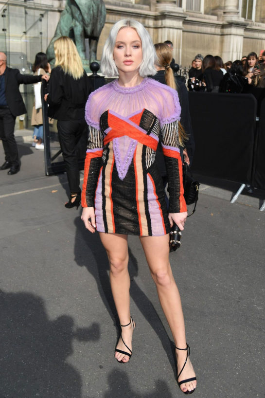 Zara Larsson at Balmain Fashion Show at PFW in Paris