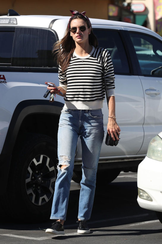 Alessandra Ambrosio in Denim Out in Encino
