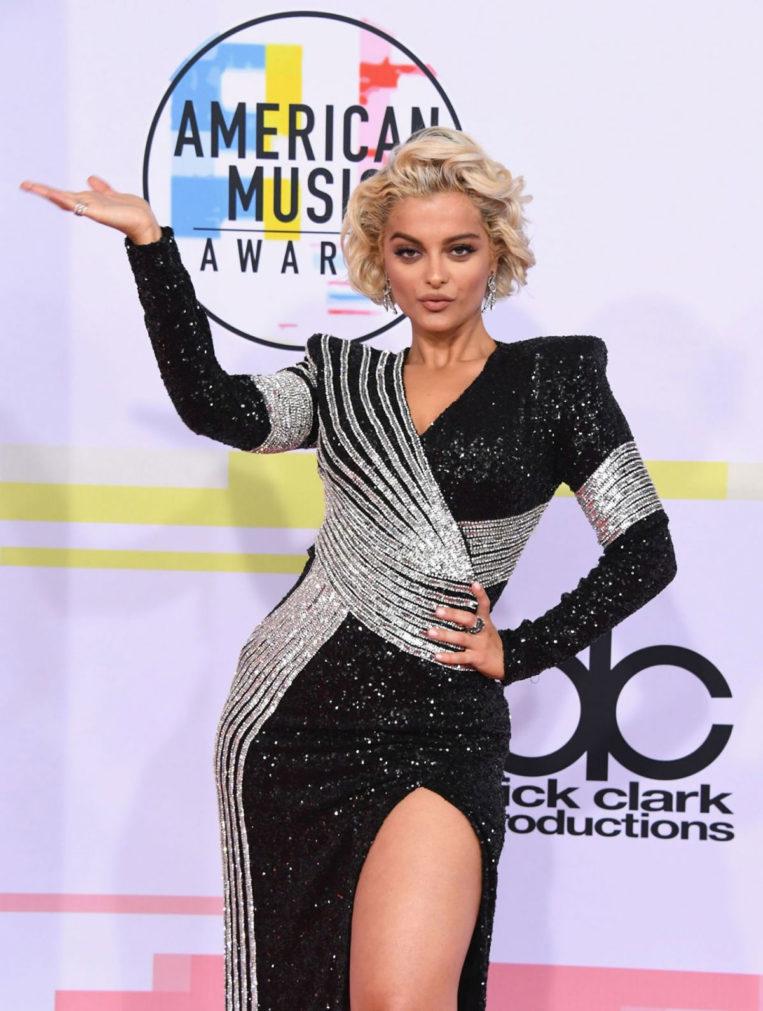 Bebe Rexha at 2018 American Music Awards in Los Angeles