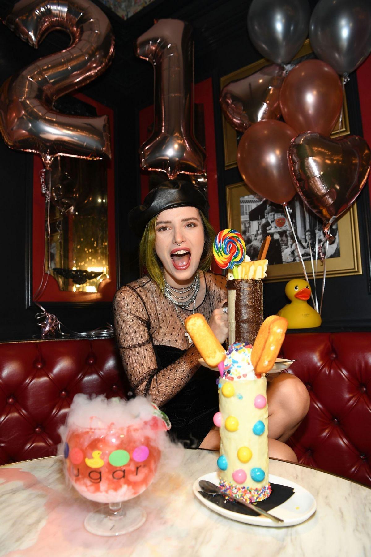 Pleasant Celebrity Birthdays Bella Thorne Celebrate 21St Birthday In Las Funny Birthday Cards Online Aeocydamsfinfo