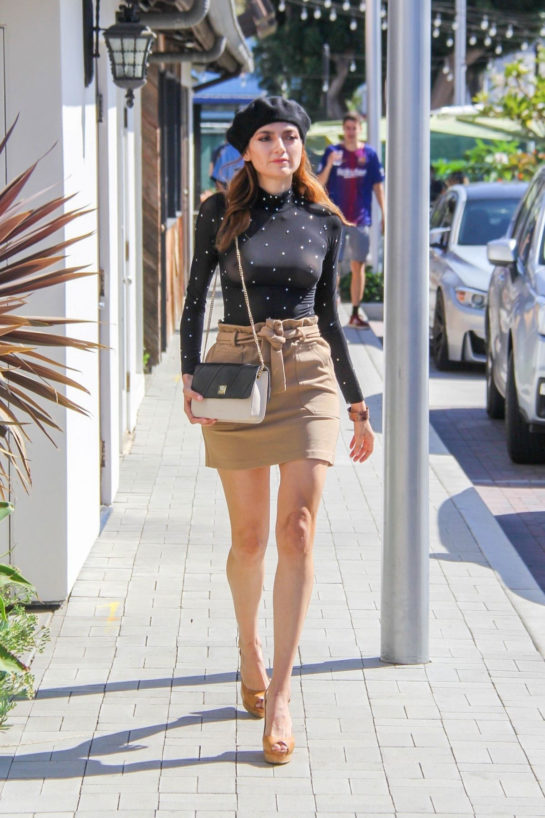 Blanca Blanco Out Shopping in Malibu