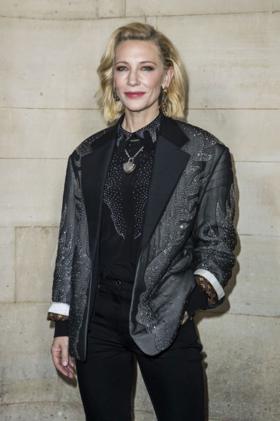 Cate Blanchett at Louis Vuitton show in Paris