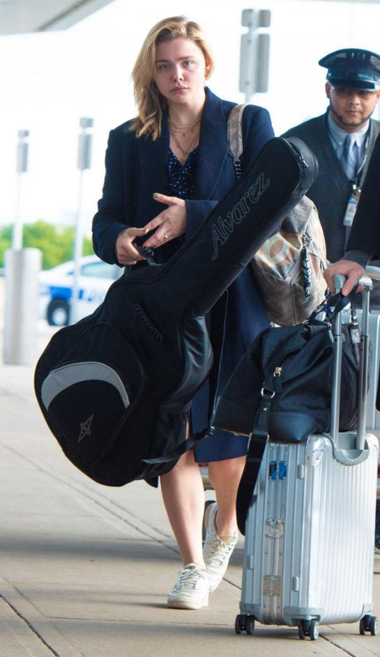 Chloë Grace Moretz at JFK Airport in New York