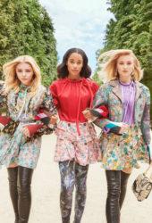 Chloe Grace Moretz, Sophie Turner, and Laura Harrier for Louis Vuitton's 2018 Charlie's Angels