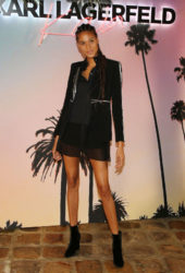 Cindy Bruna at Karl Lagerfeld x Kaia Collaboration Capsule Collection Presentation in Paris