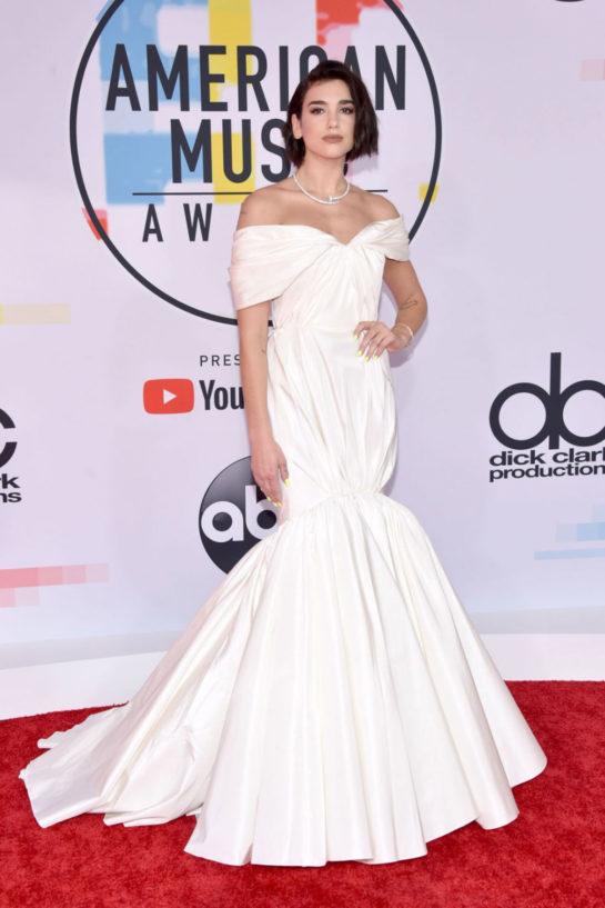 Dua Lipa at 2018 American Music Awards in Los Angeles