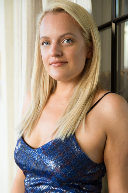 Elisabeth Moss on the Set of a Photoshoot in Los Angeles