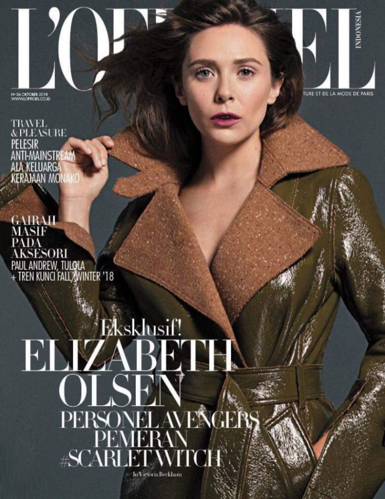 Elizabeth Olsen for L'Officiel Indonesia (October 2018)