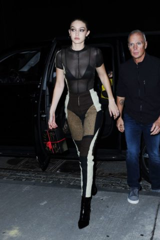Gigi Hadid Heading to Bella Hadid's Birthday Party in New York