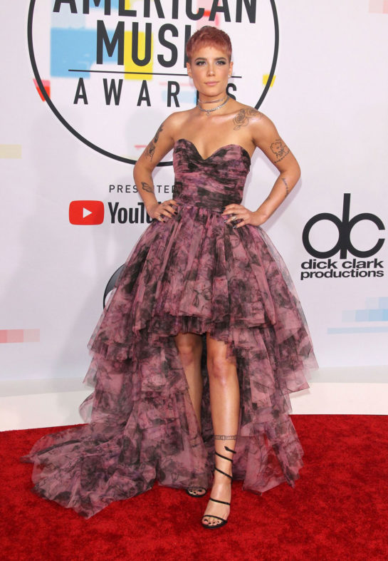 Halsey at 2018 American Music Awards in Los Angeles