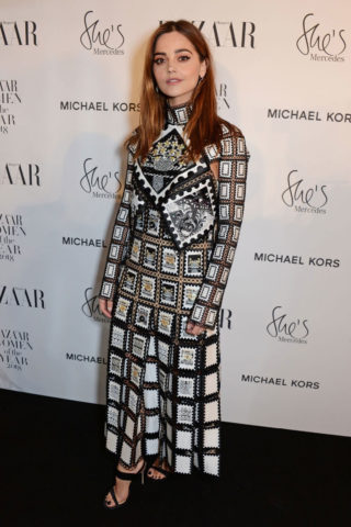 Jenna Coleman at Harper's Bazaar Women of the Year Awards in London