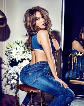Jennifer Lopez for Guess Spring 2018 campaign