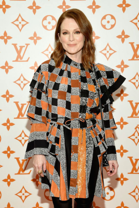Julianne Moore at Louis Vuitton X Grace Coddington Event in New York