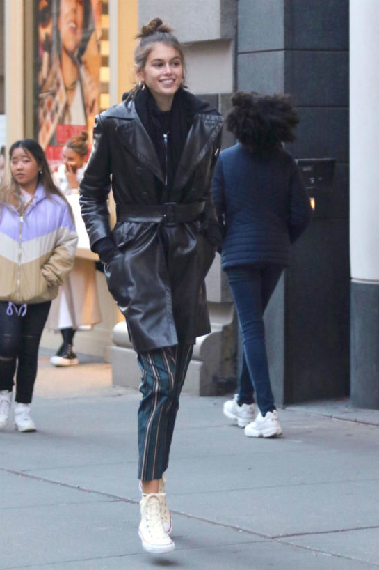 Kaia Gerber Out Shopping in New York