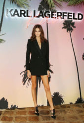 Kaia Gerber at Karl Lagerfeld x Kaia Collaboration Capsule Collection Presentation in Paris