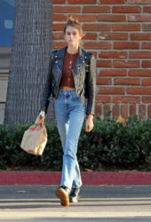 Kaia Gerber in Denim Out and About in Los Angeles