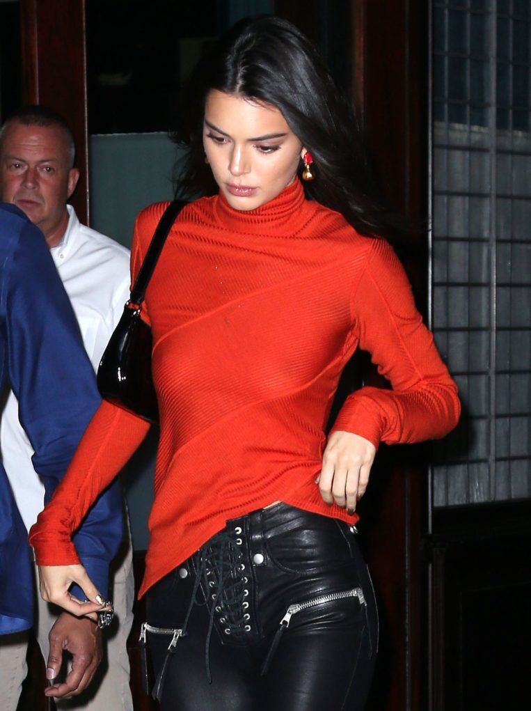 Kendall Jenner Heading to Bella Hadid's Birthday Party in New York