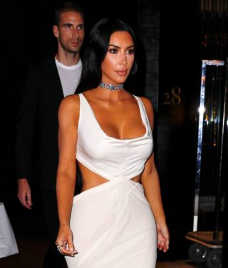 Kim Kardashian Leaves Tiffany & Co. 2018 Blue Book Collection in New York