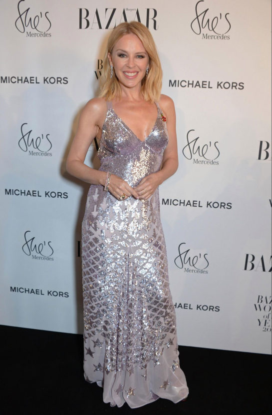 Kylie Minogue at Harper's Bazaar Women of the Year Awards in London
