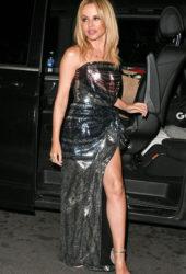 Kylie Minogue leaving the London Palladium