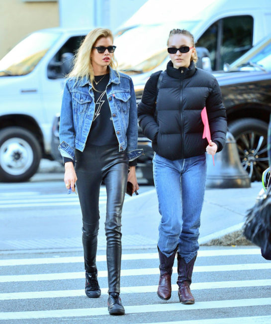 Lily-Rose Depp and Stella Maxwell Out in New York