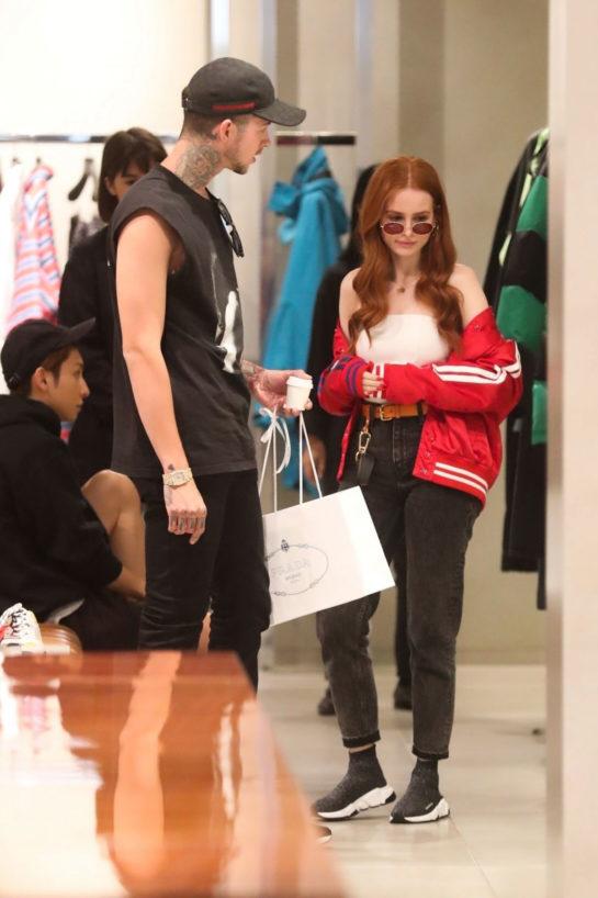 Madelaine Petsch and boyfriend Travis Mills Shopping in Beverly Hills