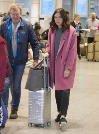 Mandy Moore Arriving in Montreal